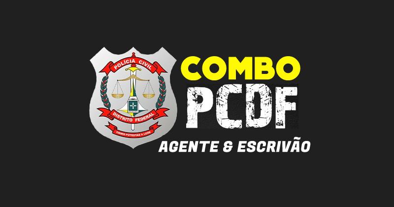 COMBO PC DF [AGENTE + ESCRIVÃO] – Teoria + Exercícios (estúdio e ao vivo) + Reta final