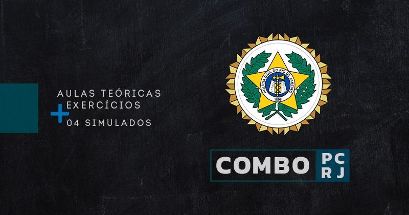 CONCURSO PC RJ [COMBO: TEORIA+EXERCÍCIOS+SIMULADOS]
